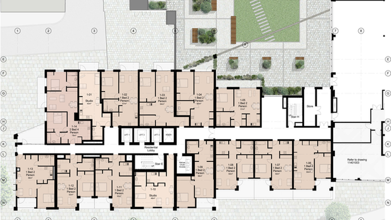 Dudley House Typical Plan