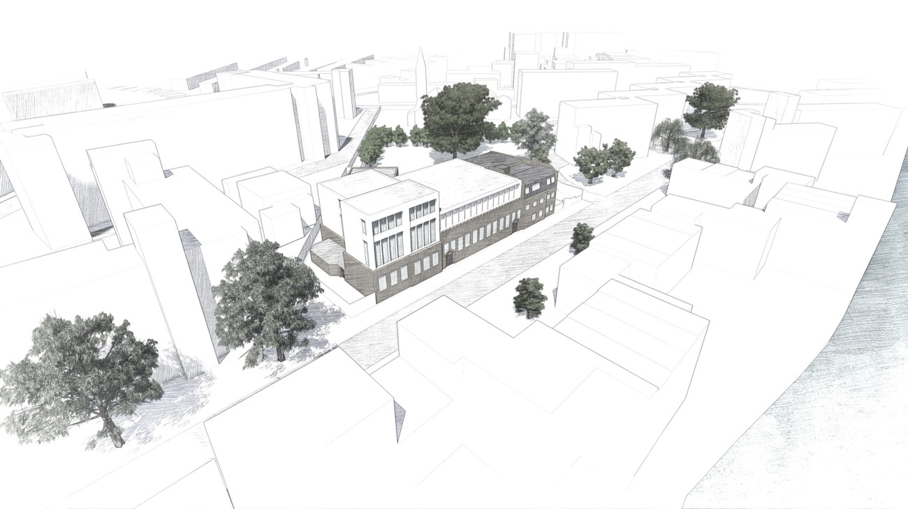 Gatehouse School Sketch Overview - Front